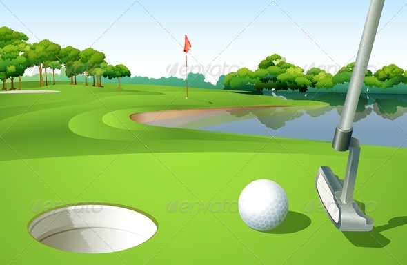 GraphicRiver A Golf Course 7914613