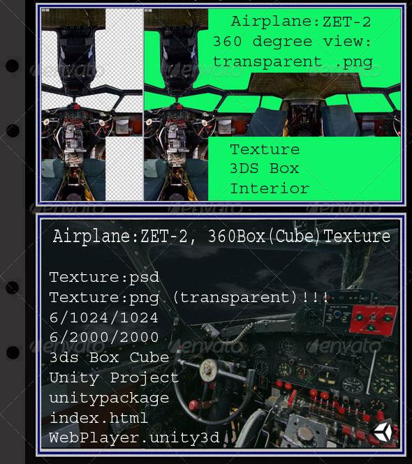 3DOcean Airplane ZET interior 7914799