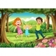 A Forest with a Happy Family - GraphicRiver Item for Sale