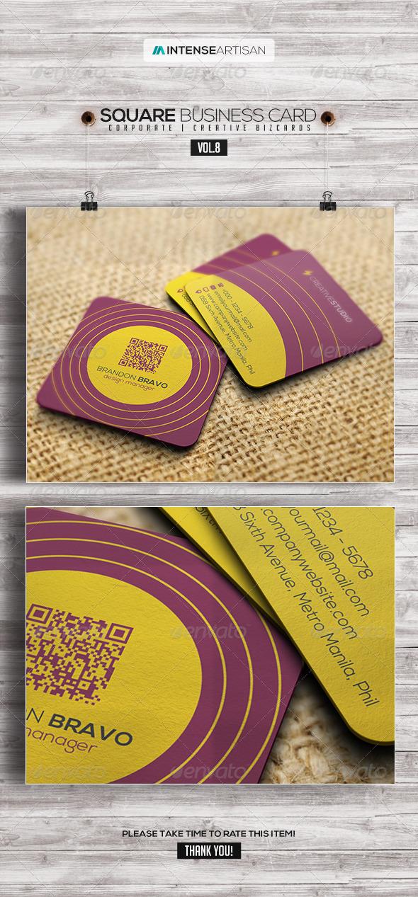 GraphicRiver Square Business Card V.8 7914876