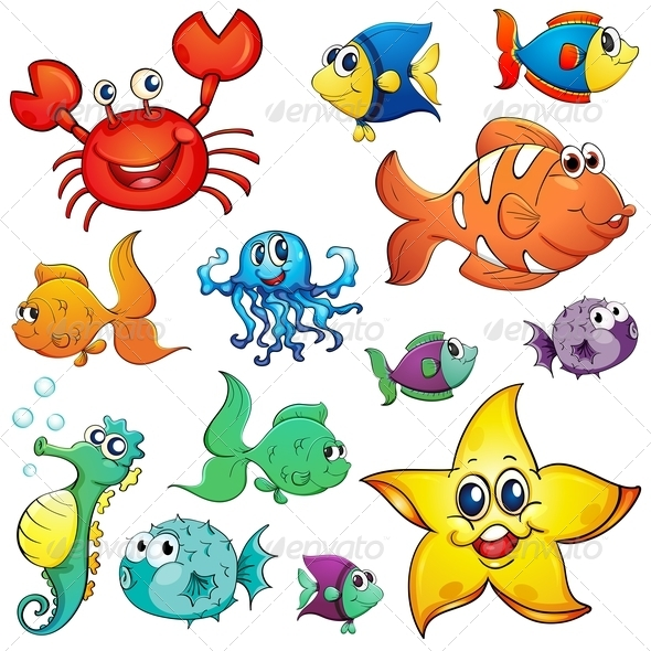 GraphicRiver Different Sea Creatures 7914965