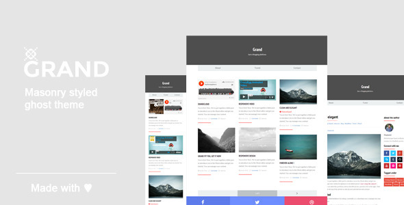 ThemeForest Grand A Responsive Masonry Style Ghost Theme 7914967