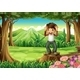 Forest Landscape with Smiling Boy - GraphicRiver Item for Sale