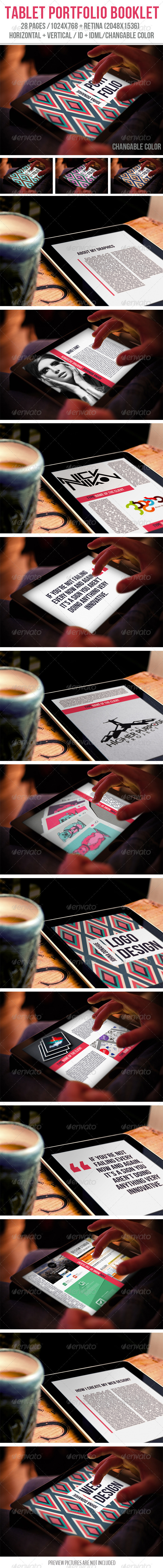 GraphicRiver Tablet Portfolio Booklet 7915036