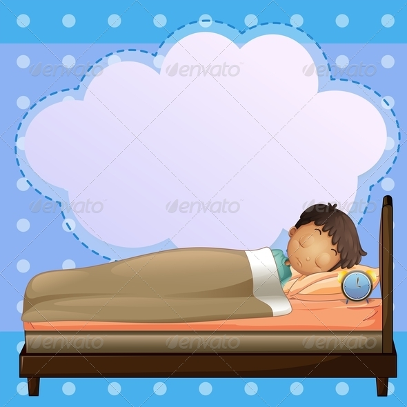 GraphicRiver A Boy Sleeping with an Empty Callout 7915050