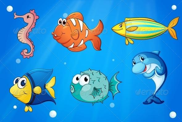 GraphicRiver Colorful Sea Creatures 7915054