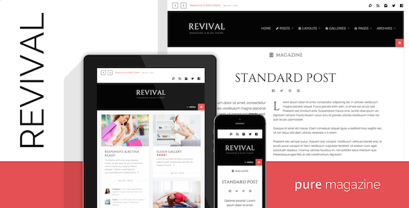 ThemeForest Revival Clean Magazine Blog Theme 7915145
