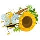 Big Fat Bee Near the Beehive - GraphicRiver Item for Sale