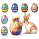 Colorful Easter Eggs and a Bunny - GraphicRiver Item for Sale