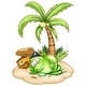 Sleeping Pirate Monster Under the Coconut Tree - GraphicRiver Item for Sale