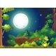 Forest with a Smiling Frog Near the Rock - GraphicRiver Item for Sale