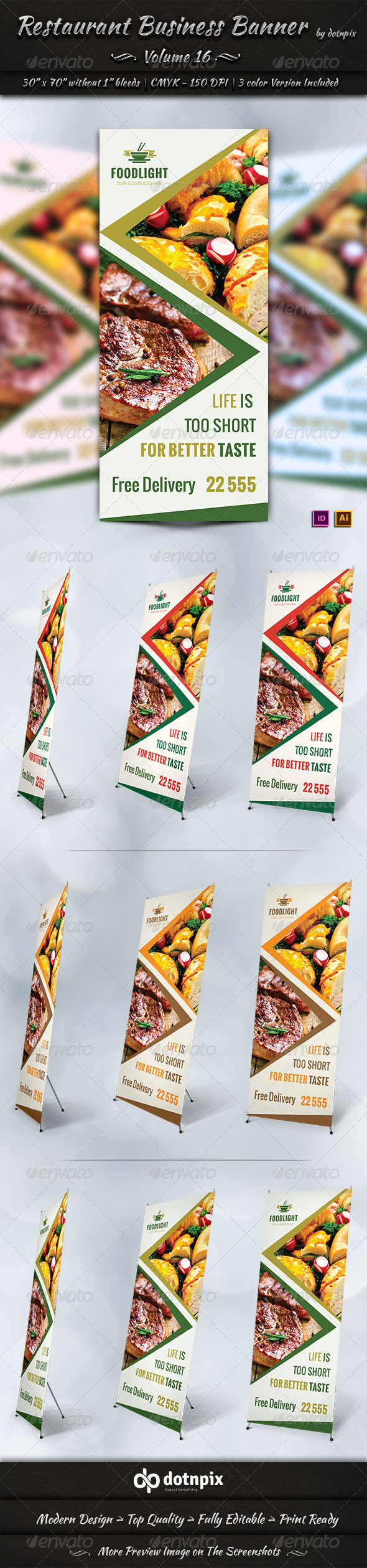 GraphicRiver Restaurant Business Banner Volume 16 7915254