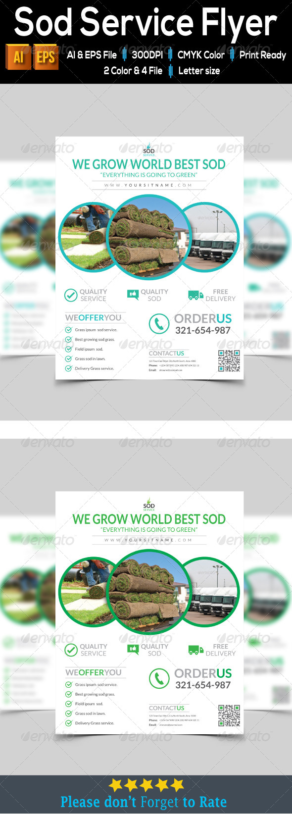 GraphicRiver Sod Service Flyer 7915272