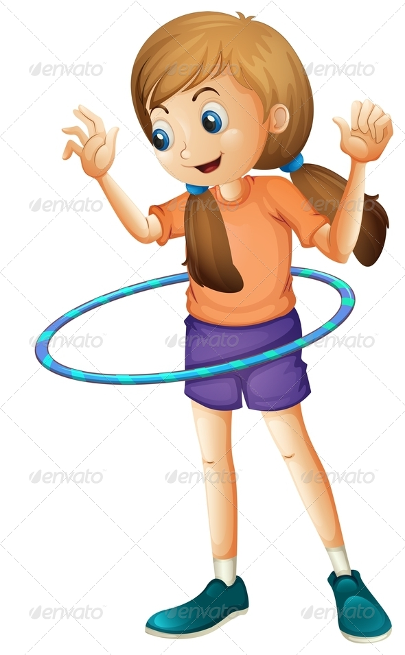 GraphicRiver Teenager Playing with a Hulahoop 7915280