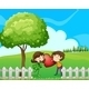 Couple at the Hilltop Near the Wooden Fence - GraphicRiver Item for Sale