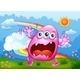 Download Vector Monster Shouting at the Hilltop