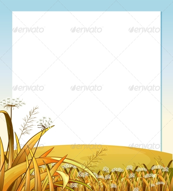 GraphicRiver An Empty Template with a Hilltop and Plants 7915424