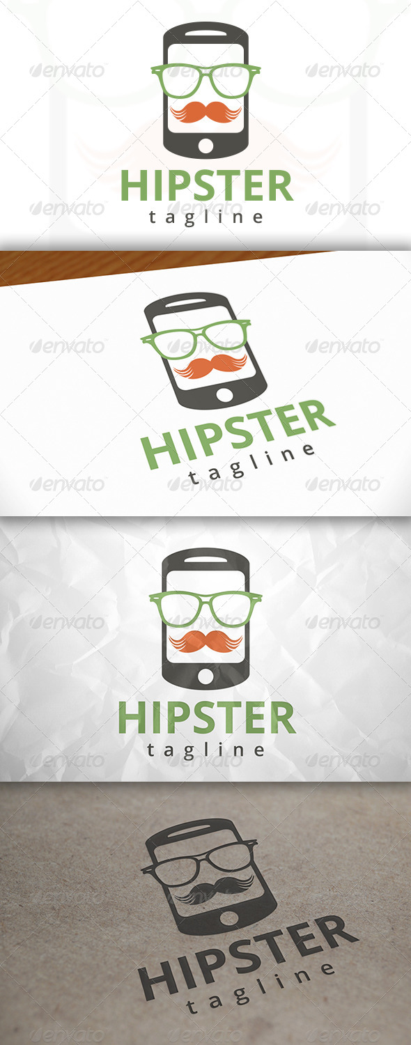 GraphicRiver Hipster Phone Logo 7915425