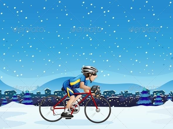 GraphicRiver A Man Biking 7915437