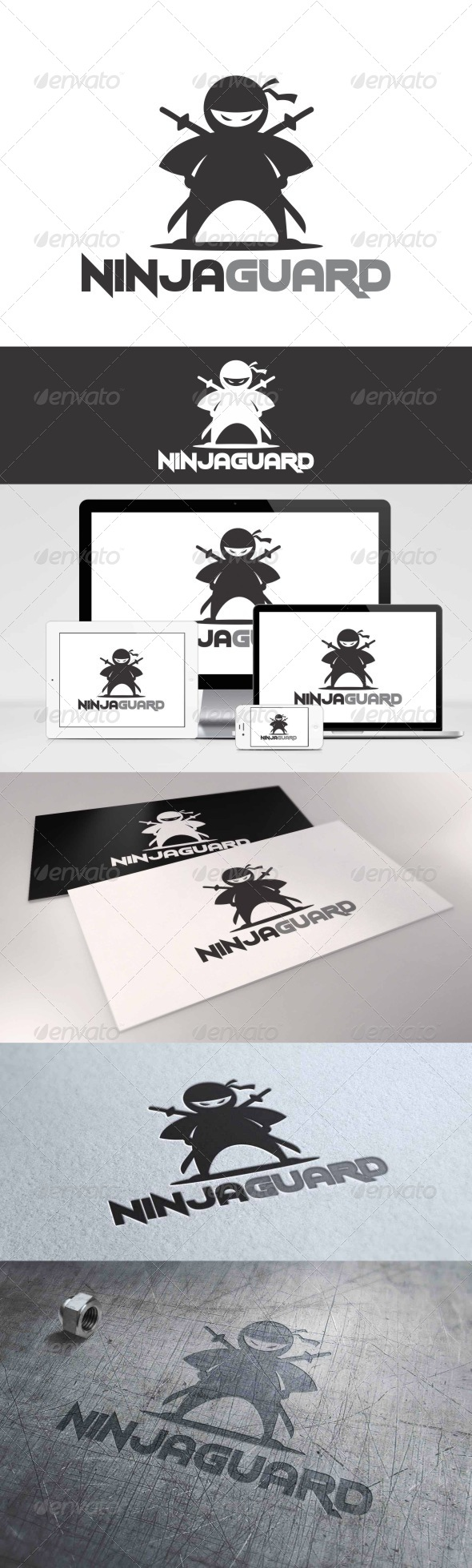 GraphicRiver Ninja Guard Logo 7908938