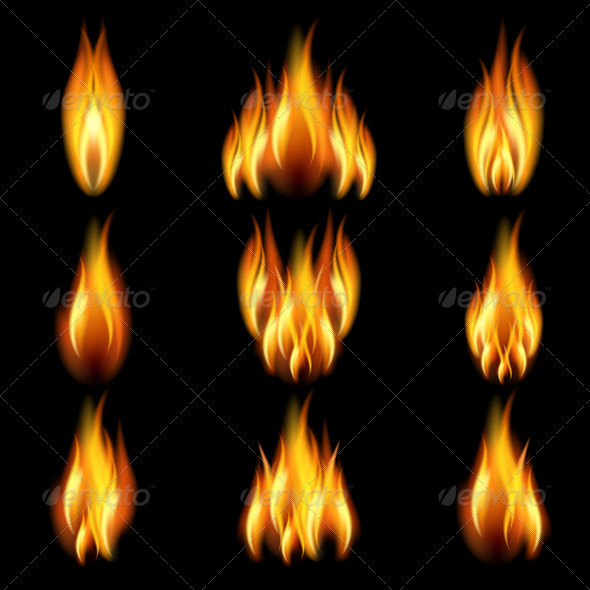GraphicRiver Set of flame 807988