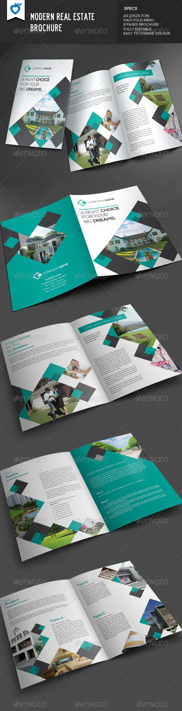 GraphicRiver Modern Real Estate Brochure 7908939