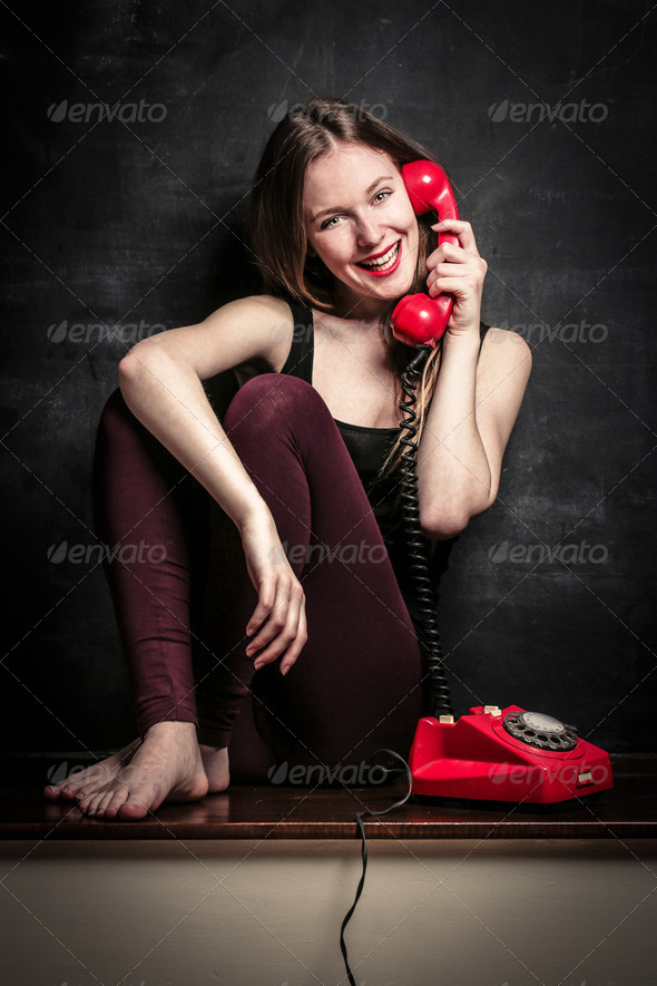 red phone - Stock Photo - Images