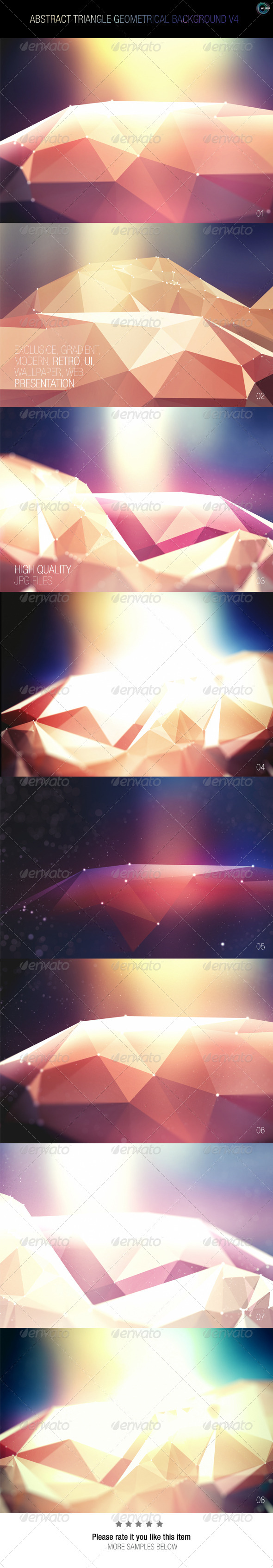 GraphicRiver Abstract Triangle Geometrical Background V4 7915477