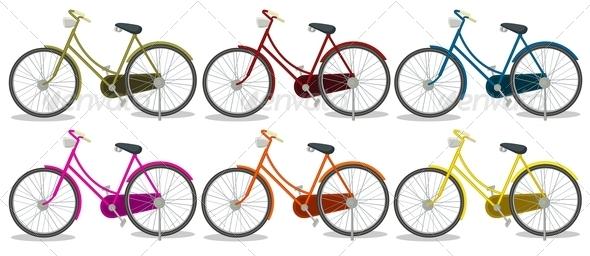 GraphicRiver Six Colorful Bikes 7915482