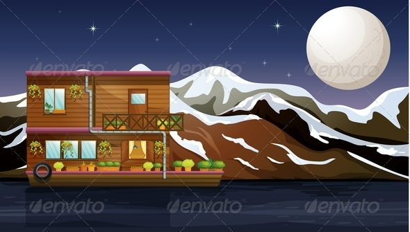 GraphicRiver A Wooden Boathouse 7915493