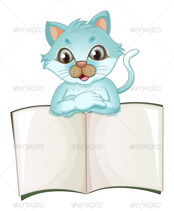 GraphicRiver Cat with an Empty Template 7915547