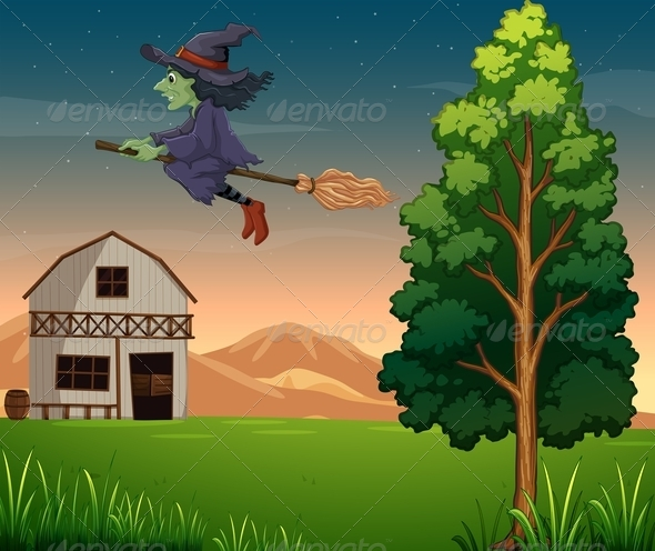 GraphicRiver Witch at the Farm 7915565