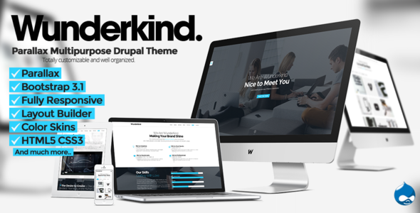ThemeForest Wunderkind One Page Parallax Drupal 7 Theme 7864554