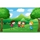 Four Kids Playing Outdoor Near the Trees - GraphicRiver Item for Sale