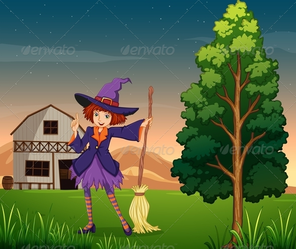 GraphicRiver Witch at the Farm 7915670