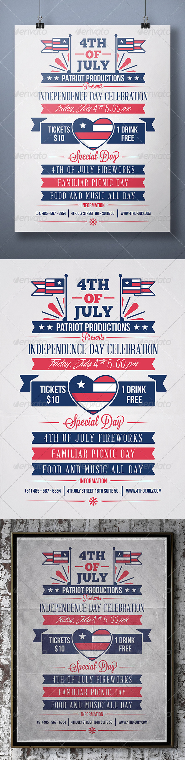 GraphicRiver 4th Of July Flyer 7915698