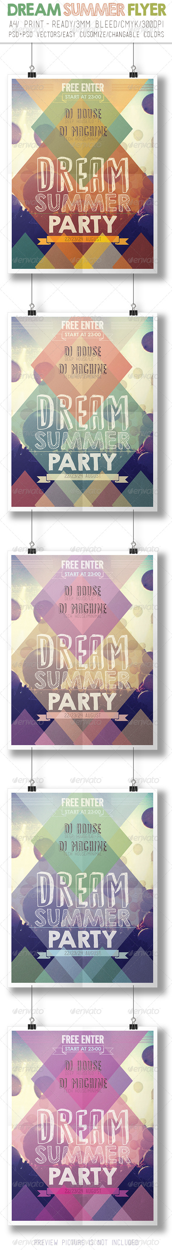 GraphicRiver Summer Party Flyer 7915750