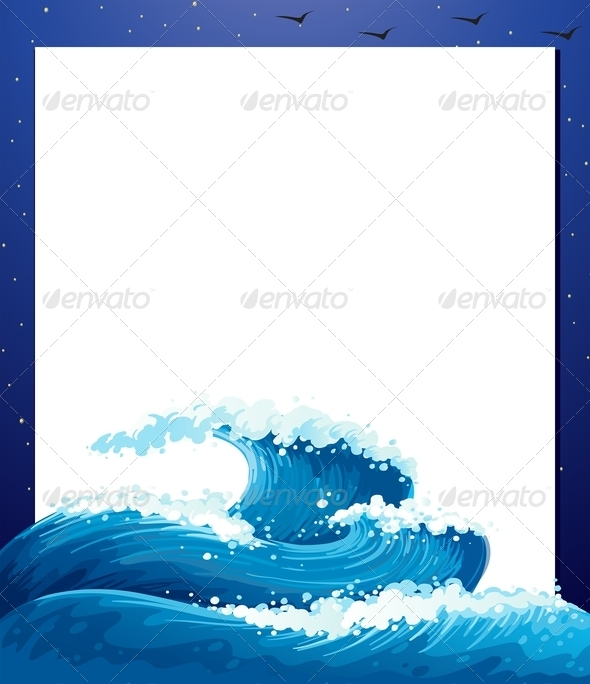 GraphicRiver An Empty Paper Template with Giant Waves 7915767