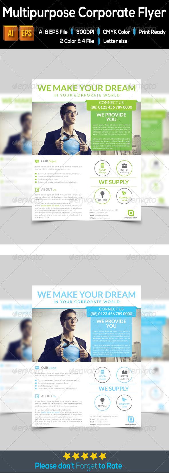 GraphicRiver Multipurpose Corporate Flyer 7915778