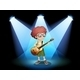 Young Guitarist at the Center of the Stage - GraphicRiver Item for Sale