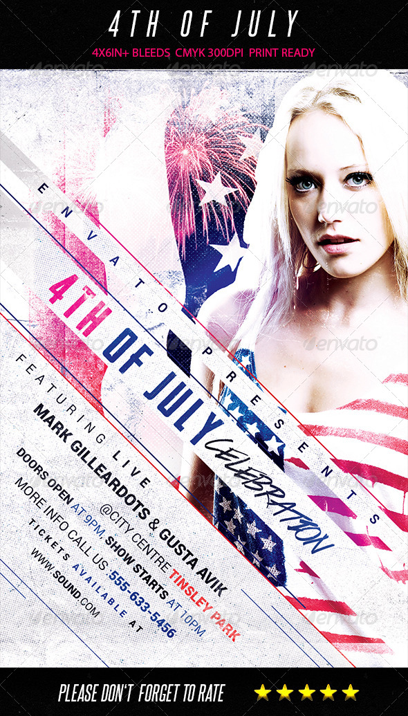 GraphicRiver 4th of July Flyer 7910264