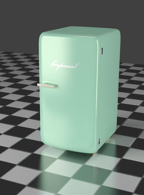 3DOcean Mint Refrigerator 7916161