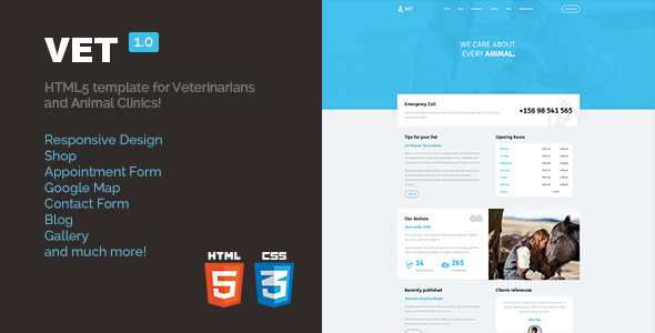 Vet - HTML5 Template for Veterinarians