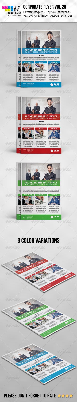 GraphicRiver Corporate Flyer Template Vol 20 7916259