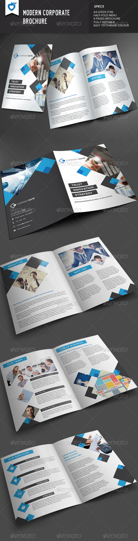 GraphicRiver Modern Corporate Brochure 7916598