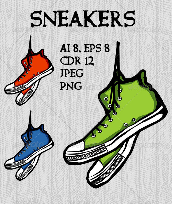 GraphicRiver Sneakers 7916627
