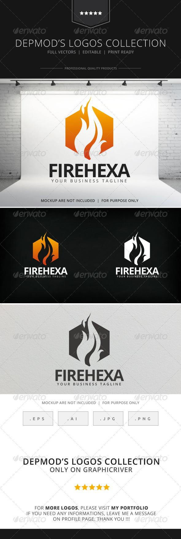 GraphicRiver Fire Hexa Logo 7916768