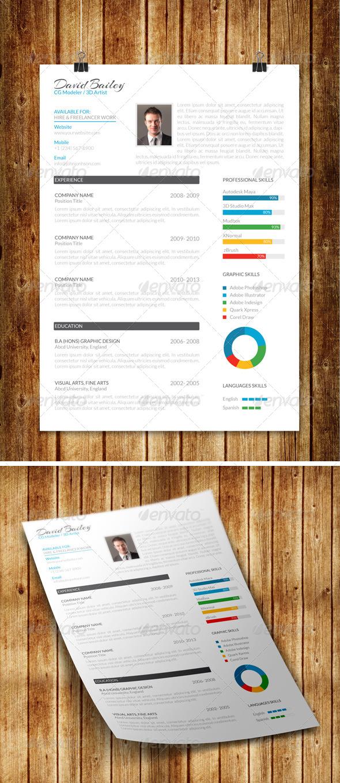 GraphicRiver Clean Modern Resume V6 7916894