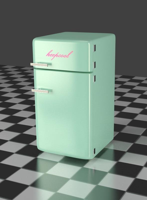 Fridge Freezer Combi mint - 3DOcean Item for Sale