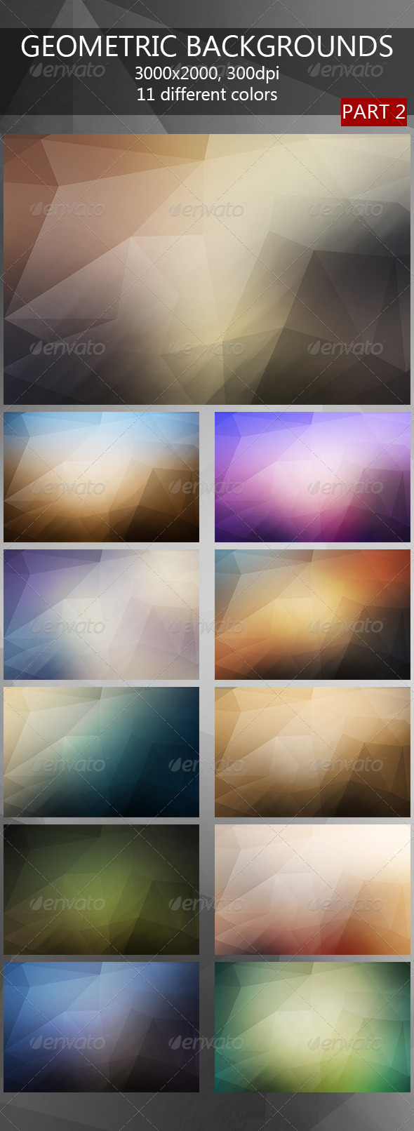 Geometric Backgrounds 2